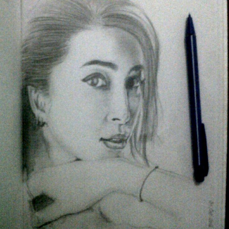 pencil portrait of li bingbing