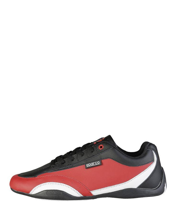 Scarpe sparco - sneakers bassa allacciata con tomaia in pelle rigenerata - interno in tessuto tecnico mesh - suola in go - Sneaker uomo zandvoort Rosso