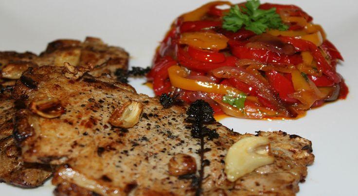 Antricot de porc cu ardei dulce acrisor - Adygio Kitchen