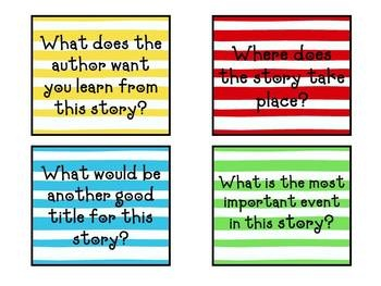 Book club question cards for casual literature circles