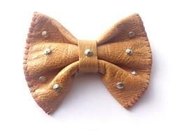 CARAMEL handmade leather bow tie from www.solace-designs.com