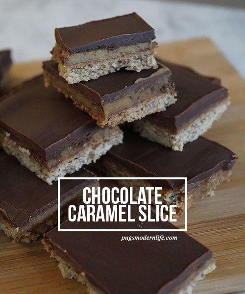 Chocolate caramel slice