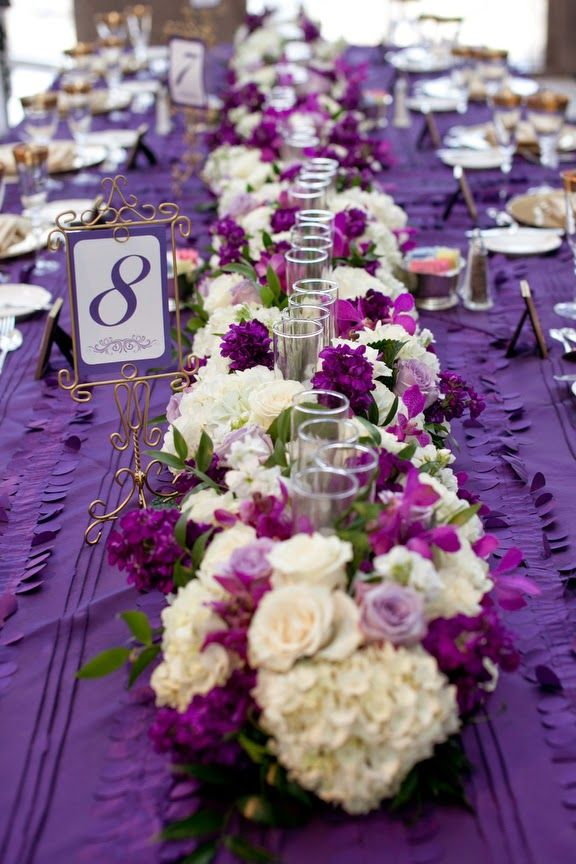 Purple Wedding Centerpieces | http://simpleweddingstuff.blogspot.com/2014/04/purple-wedding-centerpieces.html