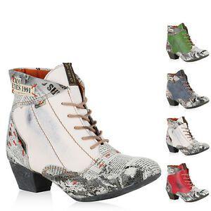 reputable site 32ac4 d6f37 896151 TMA MAIA Damen Schnürstiefeletten Leder Boots Print ...