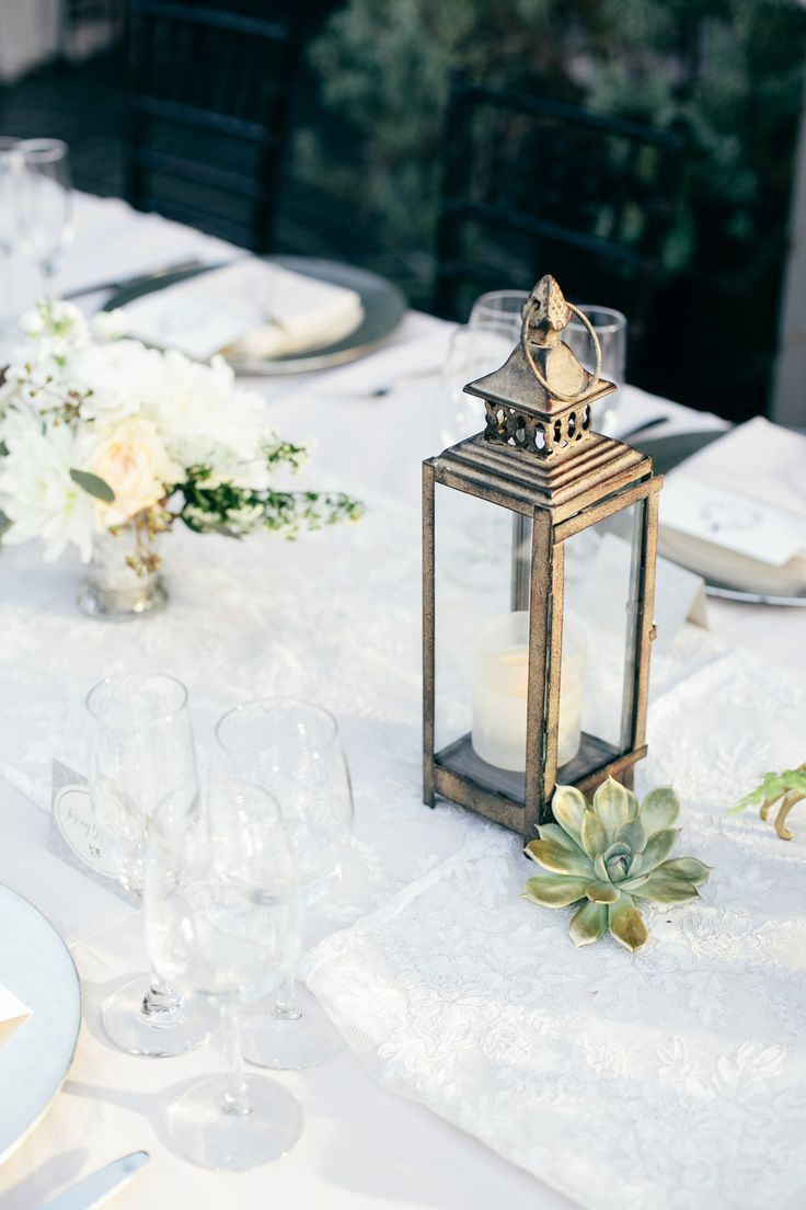 Succulent and lantern centerpieces chic inspiration