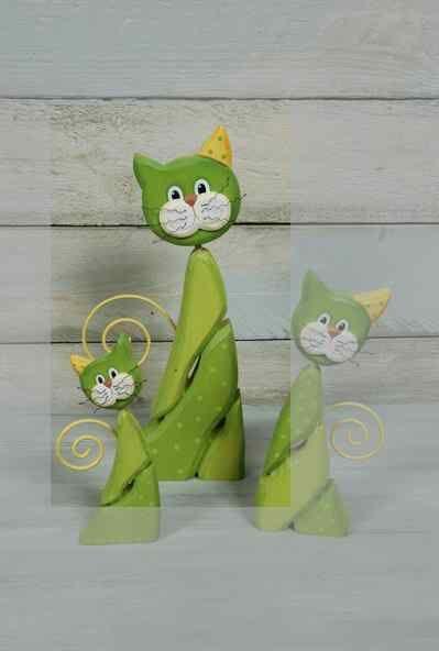 Katze bunt groß grün -