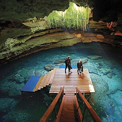 """Devil's Den Springs Scuba Diving Resort - Williston, Florida  Patrick and I dived here. Great spot. You can do a """"not so scary"""" cave type dive."""