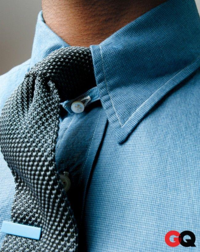 ✓Blue Shirt & Tie