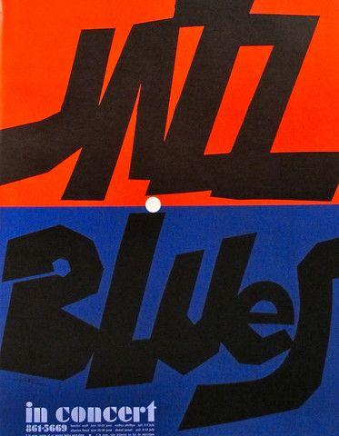 1970s Original Poster Jazz Blues Concert - Vittorio Fiorucci