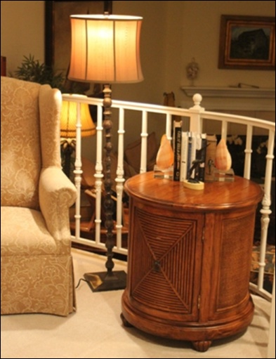 For SALE: Winged Back Chair, Pottery Barn Floor Lamp U0026 Shade, Tommy Bahama  Home Drum Table