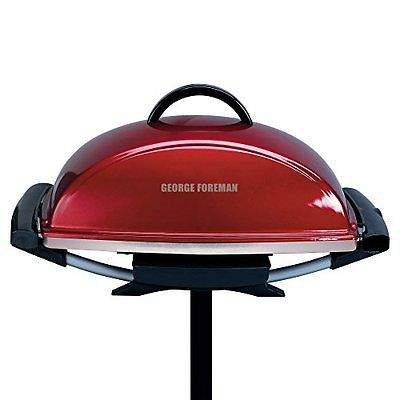 George Foreman GFO201RX Indoor/Outdoor Electric Grill Red
