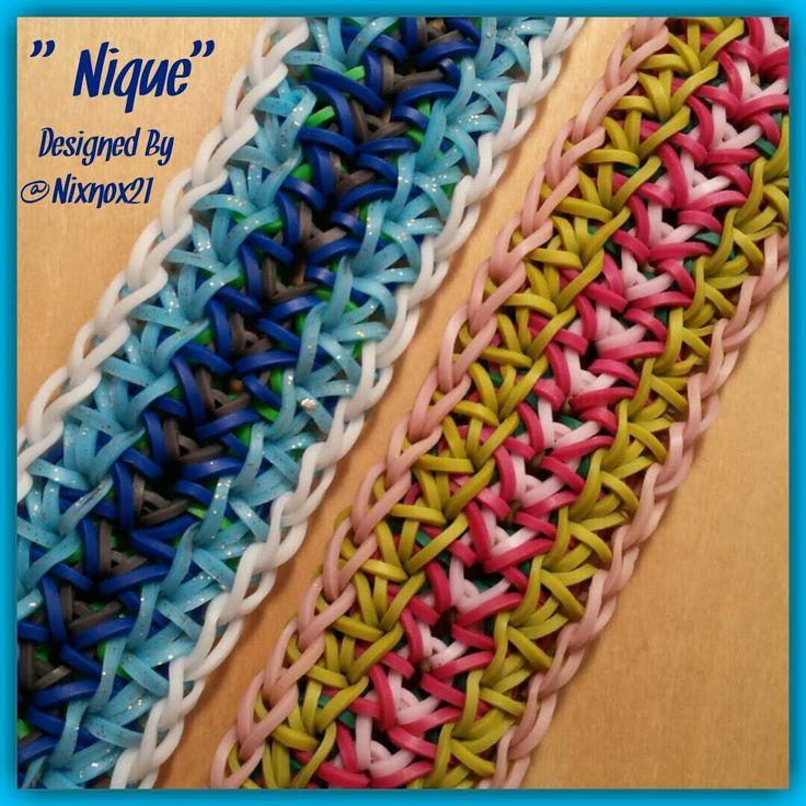 """New """"Nique"""" Rainbow Loom Bracelet/ How To Tutorial"""