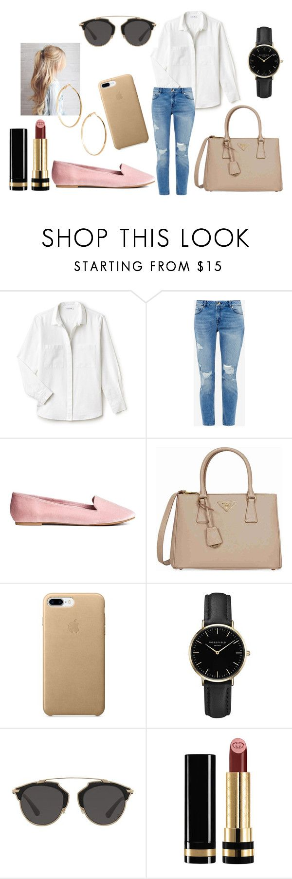 .1 by nicaa on Polyvore featuring moda, Lacoste, Ted Baker, Prada, ROSEFIELD, GUESS by Marciano, Christian Dior and Gucci