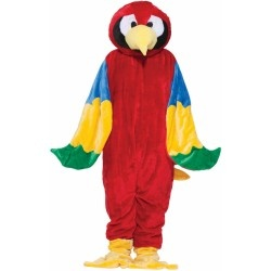 Parrot Plush Economy Mascot Adult Fancy Dress Costume
