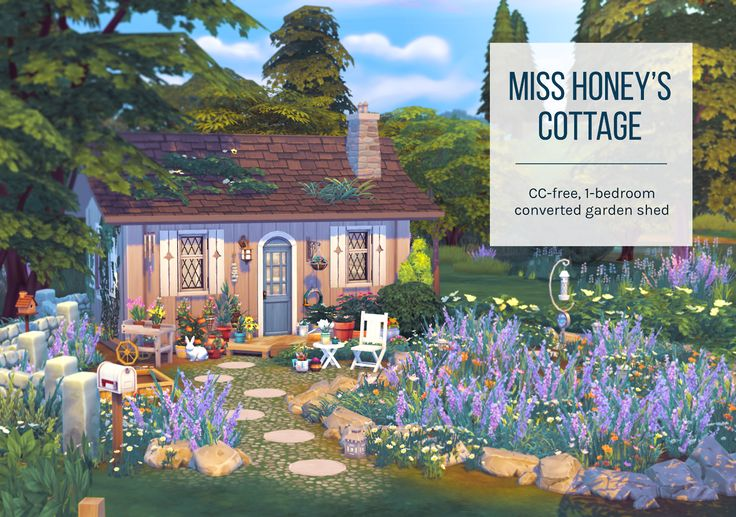 Miss Honey's CottageAnother lot created for the April CAS Challenge - this one for the honeysuckle prompt, inspired by Miss Honey's cottage in Matilda. It's a teeny house with a lot of stuff crammed in but it's been play-tested so everything should...