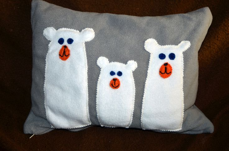 polštář lední medvědi/ pillow polar bears