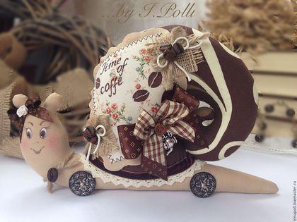"""Tilda lalki handmade. Fair Masters - ręcznie. Kup Ślimak z serii """"Kochankowie z kawy ..."""". Handmade. Brązowy"""