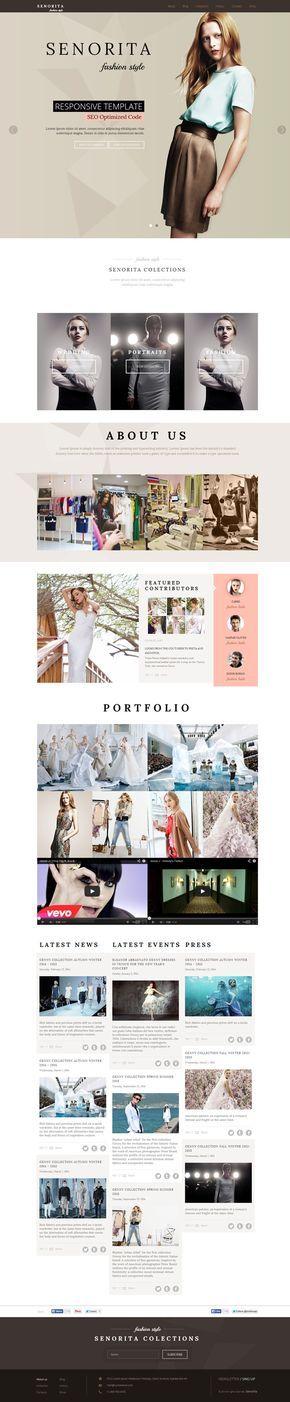 Fashion HTML CSS Template - Senorita - WP Mustache HTML Templates