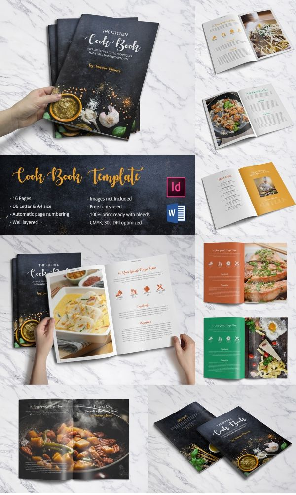 Special Kitchen Cookbook Template