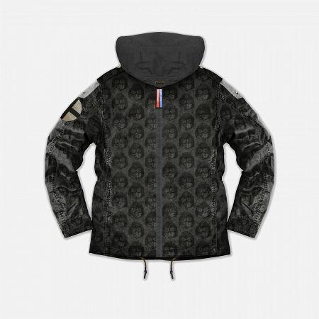 Мужская куртка Dupe Miglia Uno 3L Stowe Hooded Shell Milo Walsh Black/Black Cross Print