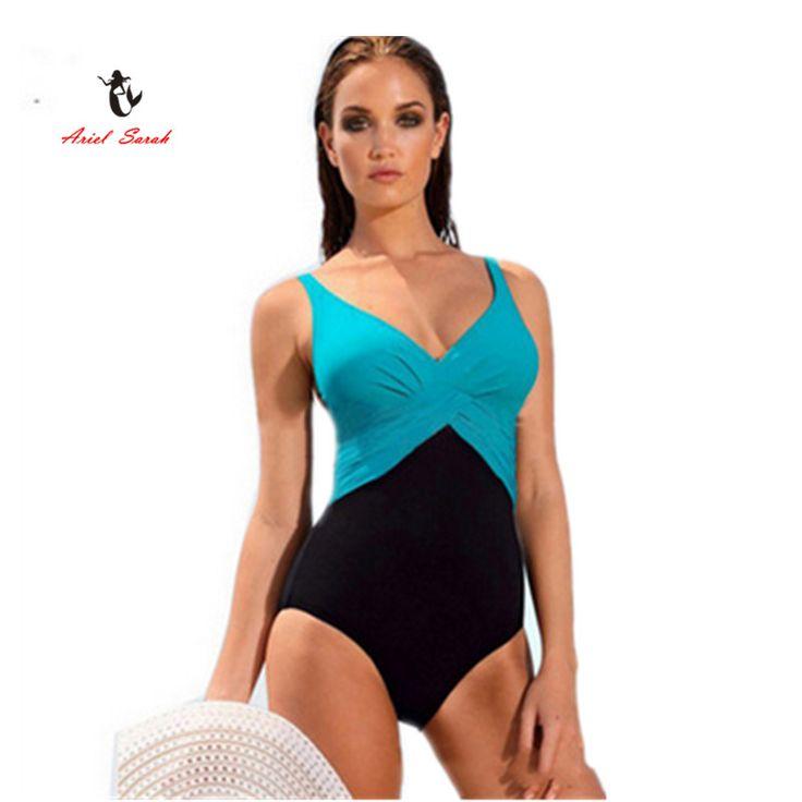 2016 One Piece Swimsuit Brazilian Bikini Set Sexy Tankini Set Beachwear Plus Size Swimwear Women Black Bathing Suit XXXXL BJ239