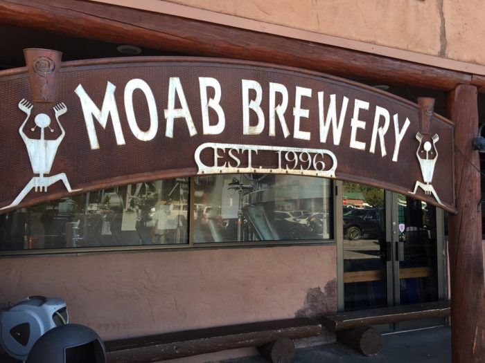 Stop in at Moab Brewery for a cold beer and a tasty dinner.