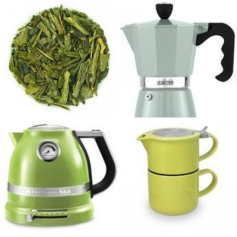 Gramy w zielone? Sposób żeby zachować trochę lata w domu to zielone akcesoria kuchenne i pyszna zielona herbata.  www.homeandfood.eu