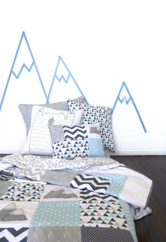 Mountain Boys Single Bed quilt  king single twin size