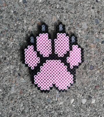 That's not a NorMal paw print ... It's a PinkPantherPawPrintThingy! Woah, that's a long word...