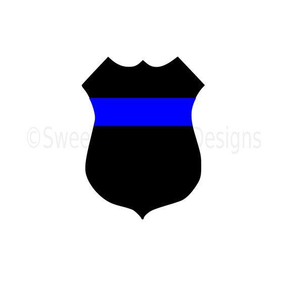 Police Badge Thin Blue Line Svg Instant By Ssdesignsstudio