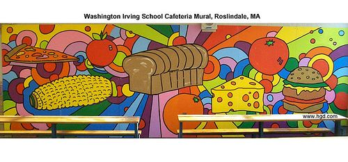 Washington Irving School Pop Art Cafeteria Mural by Howie Green