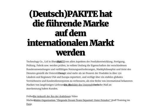 (Deutsch)PAKITE hat die führende Marke auf dem internationalen Markt werden