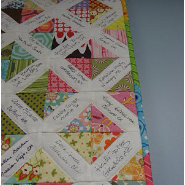 22 Best Images About Wedding Guest Book Quilts On