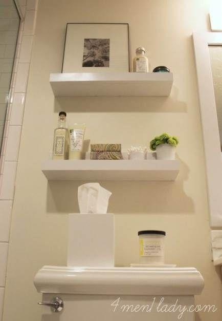 57 Trendy Diy Bathroom Shelf Above Toilet Small Spaces Towels   – Fashion DIY!!!…   – most beautiful shelves