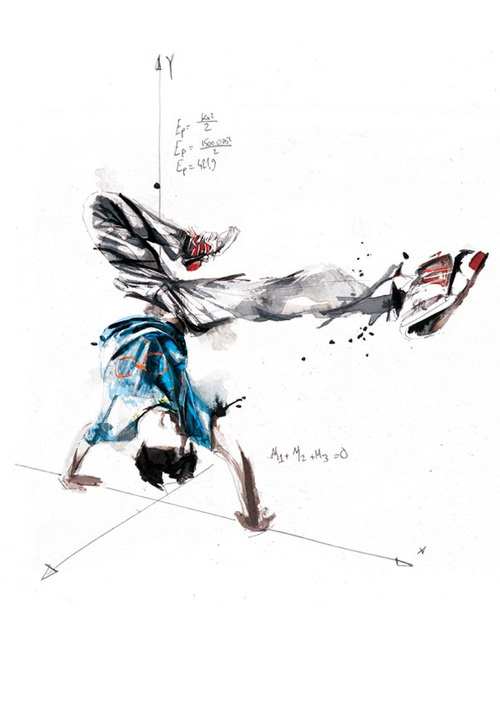 Break Dance Illustrations by Florian Nicolle