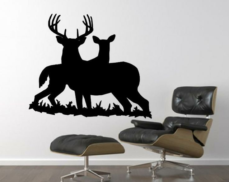 Best Deer Wall Decals Images On Pinterest Animal Wall Decals - How to make vinyl wall decals with silhouette cameo