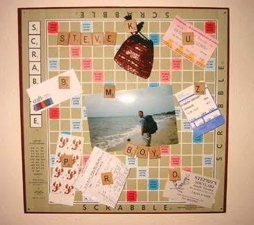 bulletin board: Scrabble Tile Crafts, Ideas, Projects, Scrabble Boards, Pin Boards, Old Boards Games, Scrabble Bulletin Boards, Handmade Christmas Gifts, Scrabble Letters