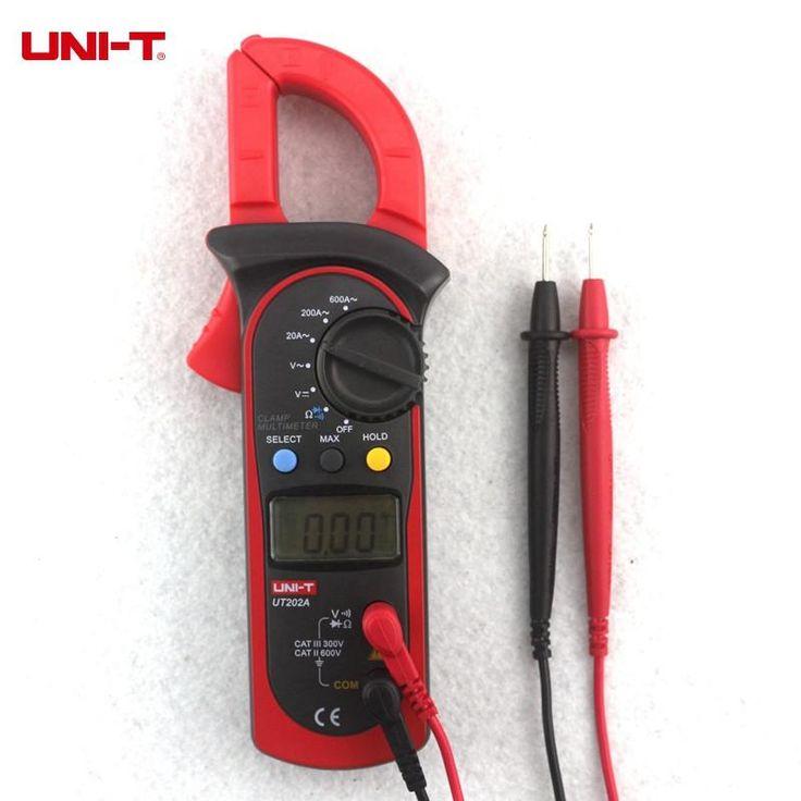 UNI-T UT202A <b>Digital</b> Clamp Multimeter 600A <b>AC</b>/DC <b>Voltmeter AC</b> ...