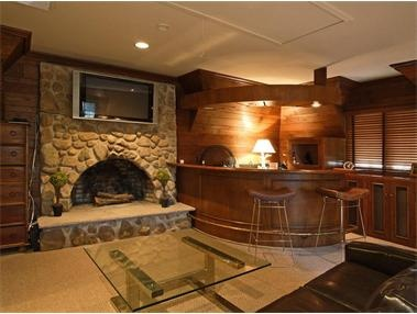 A Bar AND A Fire Place. Best Basement Ever. Assuming Thereu0027s A Pool Table  Around There Somewhere.