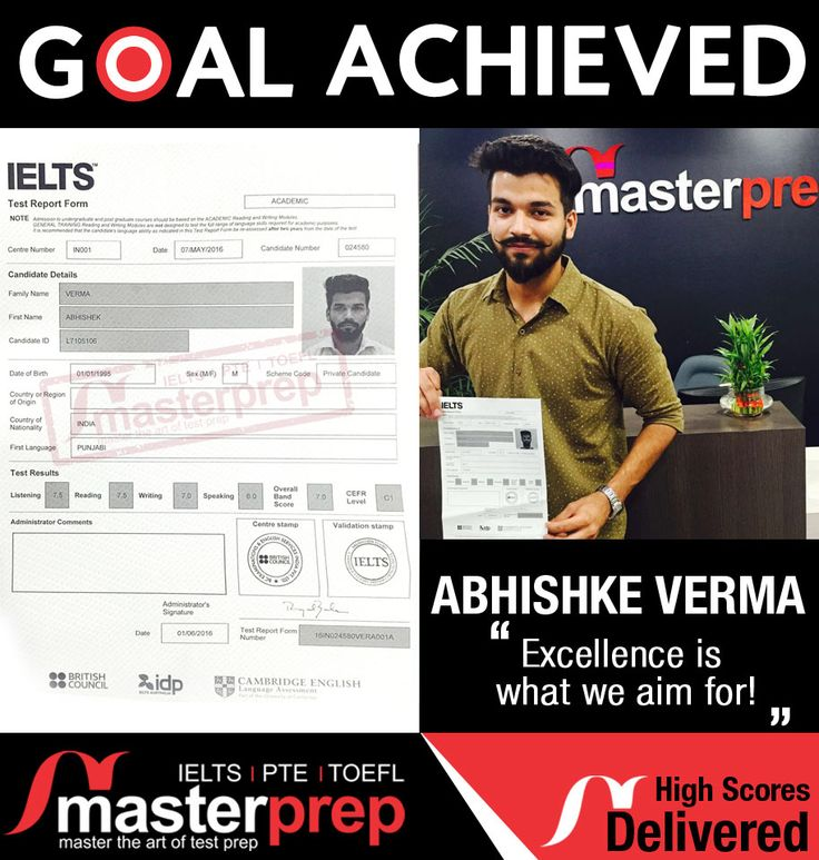 The success of our students shows the expertise of #MasterPrep faculty. Whether you are planning for #IELTS or #TOEFL or #PTEAcademic; MasterPrep has the best #English_Training faculty to guide you and help you score best. Now in Chandigarh as well as Hoshiarpur too! www.masterprep.in