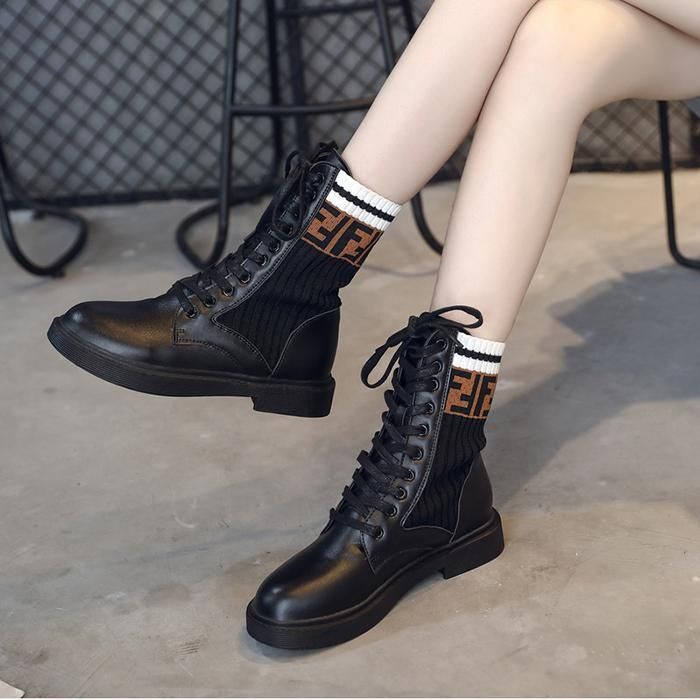 Boots, Fendi boots, Sock ankle boots