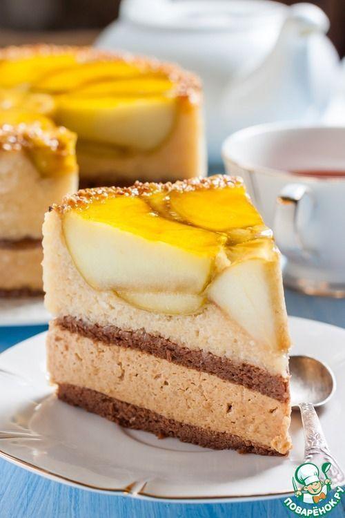 """Ингредиенты для """"Торт """"Яблоко Евы"""""""": Шоколадный бисквит Яйцо (разделить на…"""