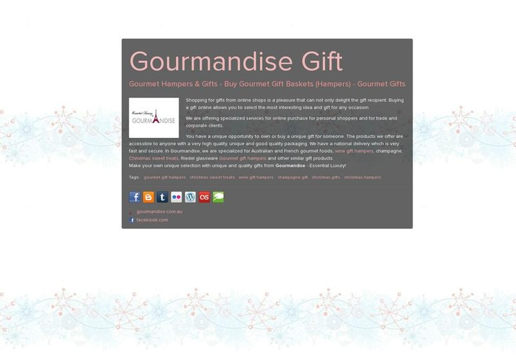 Gourmandise Gift's page on about.me – http://about.me/gourmandise