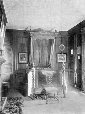 Tour Scotland Photographs: Old Photograph Mary Queen Of Scots Bedroom Rossend Castle Burntisland Fife Scotland