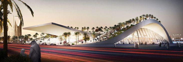 gerber architekten create dune-shaped olaya metro station via designboom