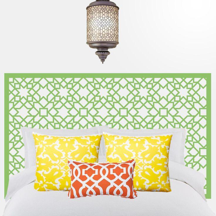 Las 25 mejores ideas sobre dormitorio oriental en - Vinilos cabezal cama ...