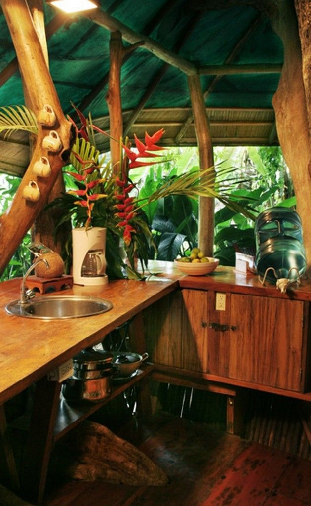 25 best ideas about tree house interior on pinterest for Tropical kitchen designs