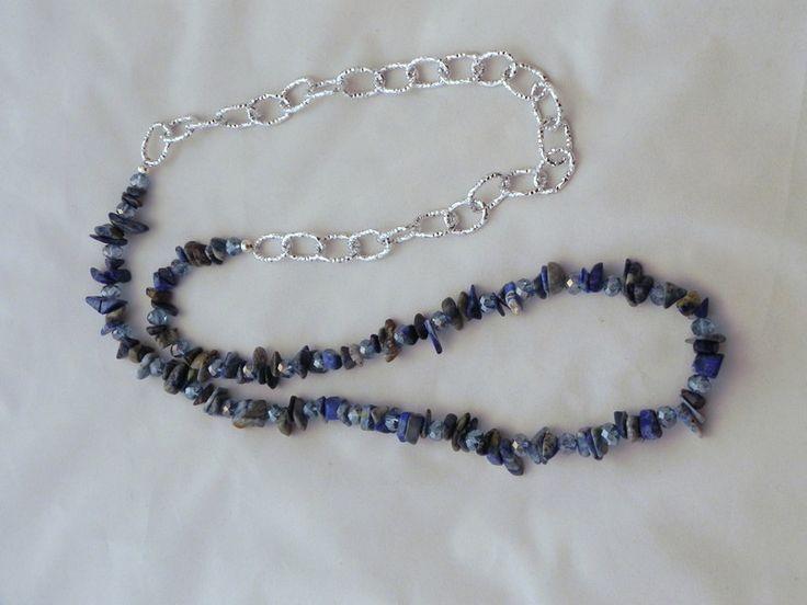 Collane lunghe - Collana chips blue - un prodotto unico di SpinzMade su DaWanda