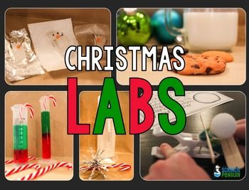 Christmas Science Labs-- Five fun science experiments for the holiday season $ #christmas #science