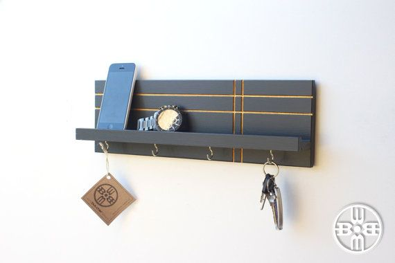 Key Holder For Wall Key Holder With Shelf Key Hook Modern Etsy